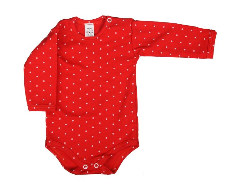 a21c85ec7 Body dlhý rukáv z kolekcie BODKA, ktoré krásne skombinujete s ostatnými  vecičkami z tejto kolekcie. 100% bavlna potlačená bielymi bodkami na bábätku  vypadá ...